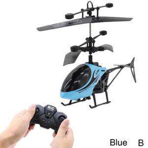 Blau (B) $ 2-Wege-Fernbedienung Flugzeug Fernbedienung Hubschrauber mit Licht und splitterfrei Kinderspielzeug-Modell