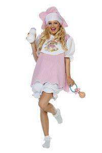 Wilbers & Wilbers Baby Party Kostüm Babykostüm Junggesellinnenabschied Riesenbaby Damen JGA Set Rosa/Weiß 38