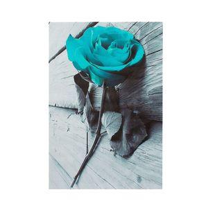Blaugrüne Blüte Rose Leinwand Wandkunst Bild Blume Blumenmalerei