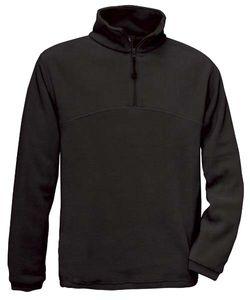 Fleecepullover B&C Highlander Unisex Fleecepullover Pullover Fleece bis 3XL , Größe:M, Farbe:Black