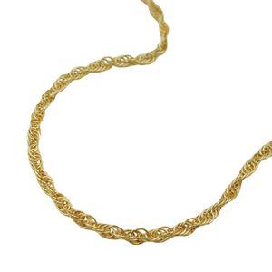 1,6mm Singapur-Kette Collier Halskette gedreht aus 585 Gold Gelbgold 45cm Goldkette