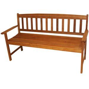 Bank 3 Sitzer Eukalyptusmassiv geölt Gartenbank Garten Terrasse Sitzbank