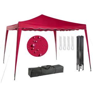 AREBOS Faltpavillon Popup Partyzelt Gartenzelt Klapp Pavillon 3x3m rot- direkt vom Hersteller
