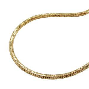Armband 2mm Schlangenkette rund diamantiert vergoldet AMD 19cm gold 2mm