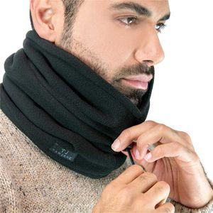 Tarjane® Fleece Thermo Schlauchschal mit Kordelzug extra warm TOG 3.4 - OneSize - Schwarz