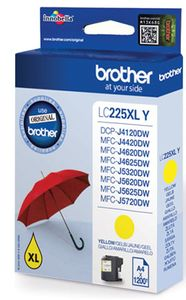 Brother LC-225XLY, Gelb, 1200 Seiten, ISO / IEC 24711, Blister