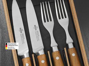 SteakChamp Steakbesteck 2 x Steckmesser + 2 x Gabel