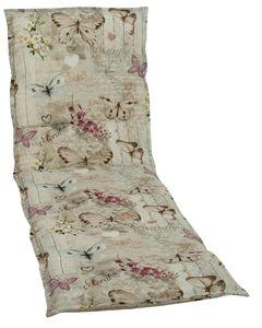 GO-DE Textil, Liegenauflage, Schmetterling beige, 19228-05