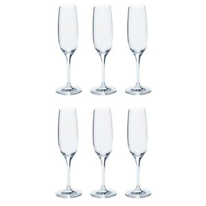 LEONARDO 061445 Ciao+ Sektkelch, Glas, 190ml, H 22,5cm, klar (6 Stück)