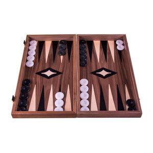 Walnuss Combo Schach - Dame - Backgammon Set - 48x26 cm - Luxus  Spitzenqualität