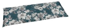 GO-DE Textil, Bank-Auflage 115cm, Blumen petrol, 19229-11