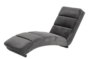 Sofa Sanne Chaiselounge Relaxsessel Liegesessel Sessel Couch Recamiere grau