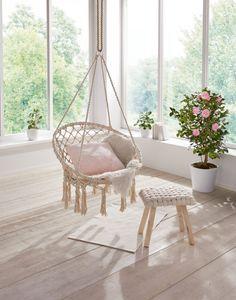 Hängesessel Lightly, Maße: Sitzfläche ca. Ø 60 cm, inkl. Rückenlehne Ø 80 cm, Gesamthöhe 130 cm