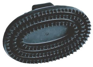 Gummistriegel Junior oval, schwarz