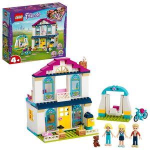 LEGO 41398 Friends 4 + Stephanies Familienhaus, Puppenhaus mit Mini-Puppen, Kinderspielzeug ab 4 Jahre, tolles Geschenk für Mädchen und Jungen