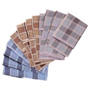 12 x Herrentücher (Es gibt drei Farben, die jeweils 4 Stück hankerchiefs in einer Farbe)  Farbe 5