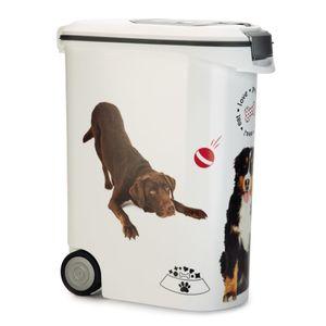 Curver Tierfutterbehälter mit Rollen Hund 54 L