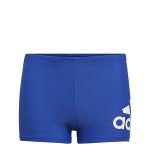 adidas Performance  Kinder Badehose Badge of Sport Boxer-Badehose blau weiss, Größe:164