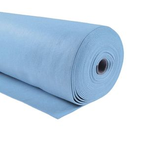 Bastelfilz 1m Meterware Filz 90cm x 1,5mm Dekofilz Taschenfilz Filzstoff 39 Farben, Farbe:hellblau