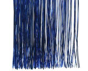 Lametta glänzend 40x50cm, 1 Stück, Farbe:blau / königsblau