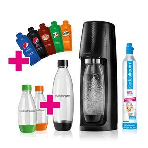 Sodastream Easy Vorteilspack Schwarz mit 4 Flaschenund 5 Pepsi Sachets