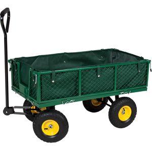 tectake Bollerwagen max. 350kg - grün