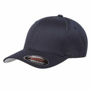 Flexfit® Baseball-Cap Gr. L / XL Dark Navy Wooly Combed Basecap Baseball Cap Mütze Kappe