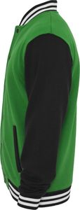 Urban Classics 3-Tone College Sweatjacket, Größe: M; Farbe: C.Green