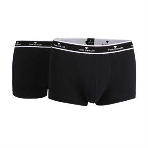 TOM TAILOR Herren Pants, 2er Pack - Short, Single Jersey, Logobund, einfarbig Schwarz M
