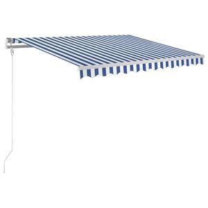 vidaXL Gelenkarmmarkise Automatisch 300x250 cm Blau und Weiß