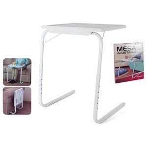 Multifunktionaler klappbarer Beistelltisch - 52x40x72cm - Nachttisch - Laptop-Tisch - Klappbar
