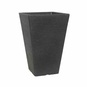 Scheurich 835-5SWGRANIT Gefäß Ken 55, 35,7x35,7x53,5cm, schwarz/granit (1 Stück)