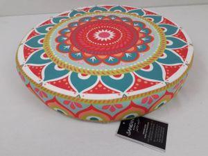 Sandini 3D Sitzkissen Dekokissen Mandala türkis/bunt 38x 6 cm