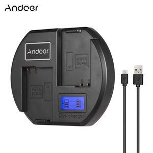 Andoer Fast Charger Zweikanaliges Kamera-Ladegeraet Digitale LCD-Anzeige USB-Eingang fuer Nikon EN-EL14 Akku fuer Nikon D3300 D5200 D5300 DF D5500