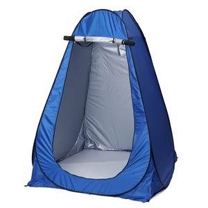 145x145x186cm Duschzelt Toilettenzelt Umkleidezelt Dusche Zelt mit Tragetasche Camping Zelt - Blau