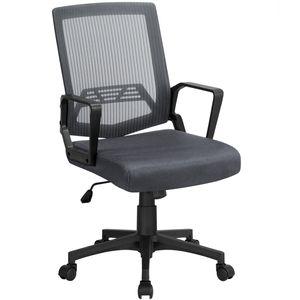 Yaheetech Bürostuhl Ergonomischer Schreibtischstuhl Drehstuhl Chefsessel Gaming Stuhl Dunkelgrau
