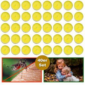 2 x 40er Set Citronella Kerzen Mückenschutz Insektenschutz Anti Mücken Duftlicht