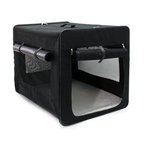 Transportbox XL faltbar 94x66x74 cm Hundebox Katzenbox Reisebox Autobox