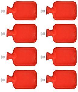 8er Set Wärmflasche aus Gummi 2 Liter | Wärmeflasche Wärmekissen  | Wärme Flasche Bettflasche
