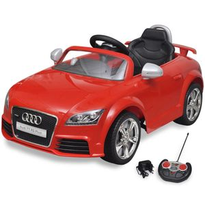 vidaXL Audi TT RS Aufsitz-Auto für Kinder mit Fernsteuerung Rot