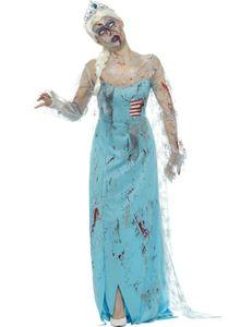 Damen Kostüm erfrorene Zombie Märchen Prinzessin Halloween Gr.M