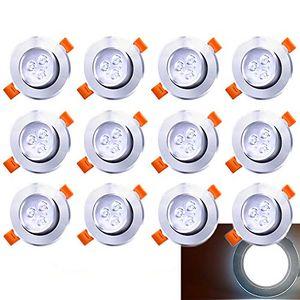 karpal LED Einbau-Strahler Inkl. 12 x 3W LED Einbaustrahler 230V Deckenstrahler Schwenkbar Einbauleuchte Kaltweiss Deckeneinbaustrahler Einbauspot
