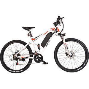 MOOVWAY Elektrisches Mountainbike 27,5 Autonomie 40 km - 7 Geschwindigkeiten Shimano - Aluminiumrahmen - Weiß