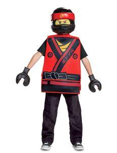 Kai Ninjago-Kostüm für Kinder Karneval rot-gelb