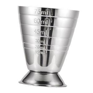 Edelstahl Bar Jigger Barmaß mit Skala Getränke Maßnahme Cup Barmaß, 75ml Farbe Silber