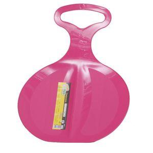 Kinderschlitten, Rutsch-Schlitten Free 198 aus Kunststoff mit Haltegriff, Farbe:rosa