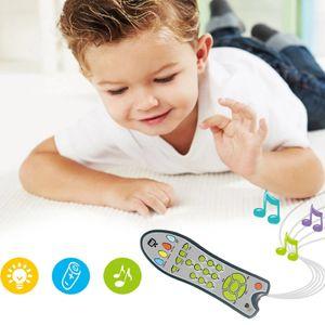 Kinderspielzeug Fernbedienung, Spielzeugfernbedienung mit Licht und Sound, Frühkindliche Erkenntnis, 6-36 Monate