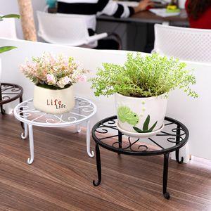 Blumenständer Metall Pflanzenhalter Blumenhocker Retro Dekorativ Indoor Ständer, Weiß