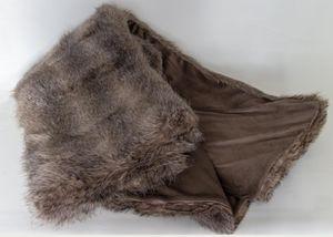 Felldecke Bärenpelz Braun Kuscheldecke Wohndecke Überwurfsdecke Fell 150x200