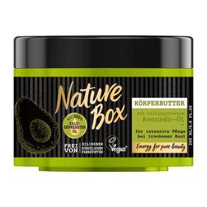 3 x Nature Box Avocado-Öl Körperbutter je 200 ml Vegan